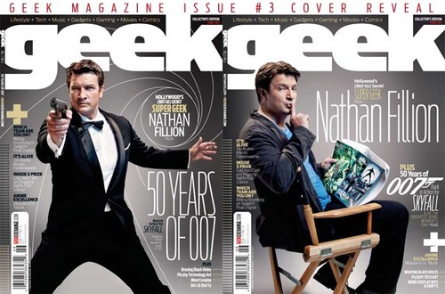 Nathan Fillion Geek Magazine 2012