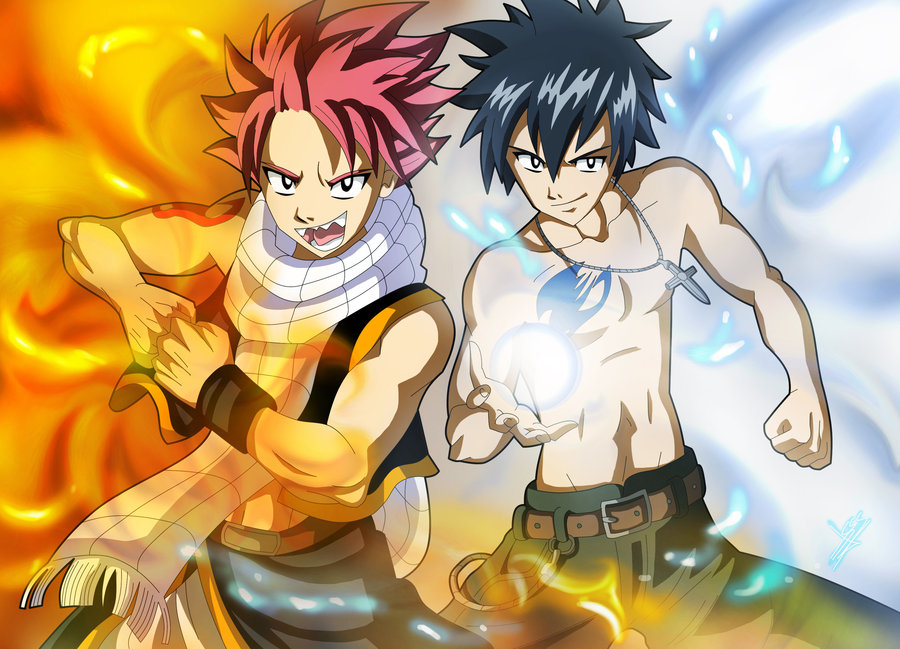 Friendly Fairy Tail Wizards Images Natsu And Gray Fanart HD Wallpaper Background Photos