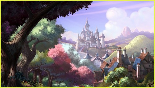 Sofia The First kertas dinding probably with a lychgate called New pictures