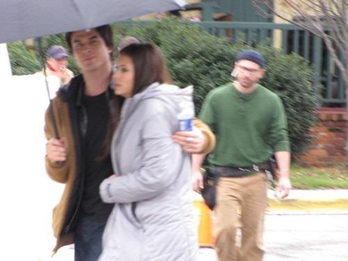 Damon&Elena and Ian&Nina wallpaper containing a parasol entitled Nian <3