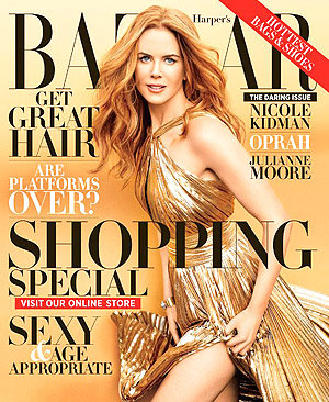 Nicole Kidman wallpaper with anime entitled Nicole Kidman - Harper's Bazaar Nov. 2012