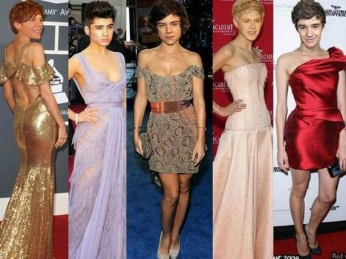 One Direction in dresses!