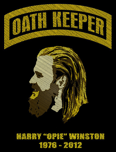 Sons Of Anarchy wallpaper probably containing a sign and anime entitled Opie the Oath Keeper - Tribute Patch