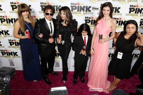 Paris Jackson, Prince Jackson, Latoya Jackson, Blanket Jackson and ? at Mr merah jambu Drink Launch Party