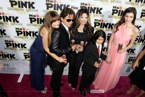 Paris Jackson, Prince Jackson, Latoya Jackson, Blanket Jackson and ? at Mr rosa, -de-rosa Drink Launch Party