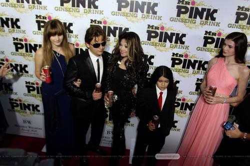 Paris Jackson, Prince Jackson, Latoya Jackson, Blanket Jackson and ? at Mr rosa Drink Launch Party