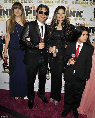 Paris Jackson, Prince Jackson, Latoya Jackson and Blanket Jackson at Mr roze Drink Launch Party