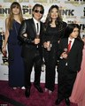 Paris Jackson, Prince Jackson, Latoya Jackson and Blanket Jackson at Mr berwarna merah muda, merah muda Drink Launch Party