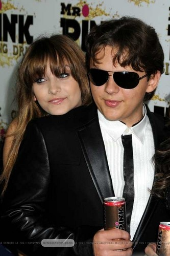 Paris Jackson and her brother Prince Jackson Blanket Jackson at Mr Pink Drink Launch Party ♥♥