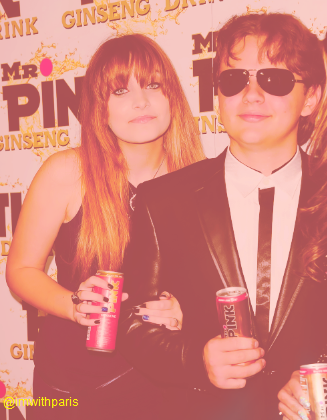Paris Jackson and her brother Prince Jackson at Mr 담홍색, 핑크 Drink Launch Party ♥♥