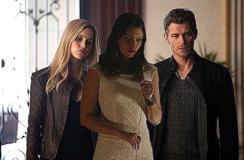 Phoebe Tonkin, Claire Holt and Joseph morgan