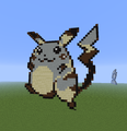 Pikachu Evolution chain. (Red and Blue version) - minecraft-pixel-art fan art