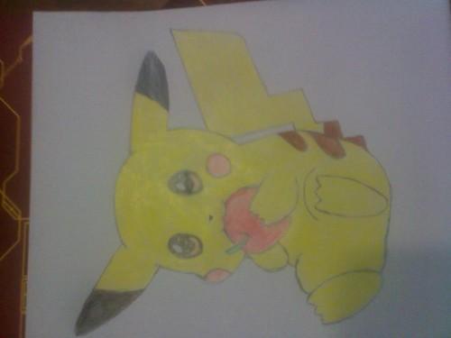 Pokémon achtergrond titled Pikachu