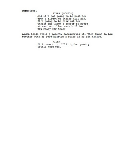 Potential Spoiler! Season 3 Scenario: Twins Audition Scene Page 2