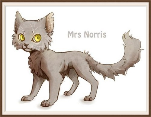 Pottermore: Characters - Argus Filch and Mrs Norris - harry-potter Fan Art