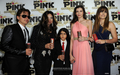 Prince Jackson, Latoya Jackson, Blanket Jackson, ? And Paris Jackson at Mr ピンク Drink Launch Party