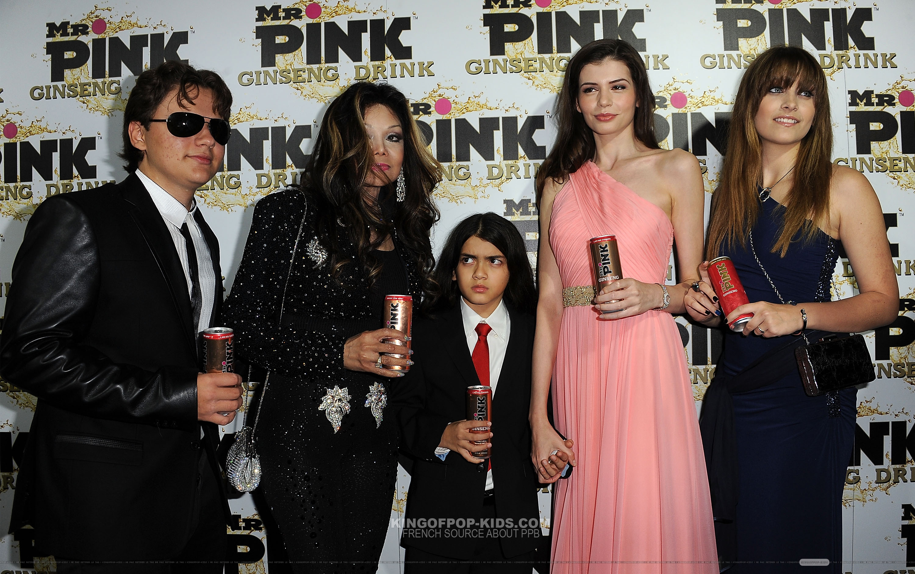 Prince Jackson, Latoya Jackson, Blanket Jackson, ? And Paris Jackson at Mr rosa Drink Launch Party