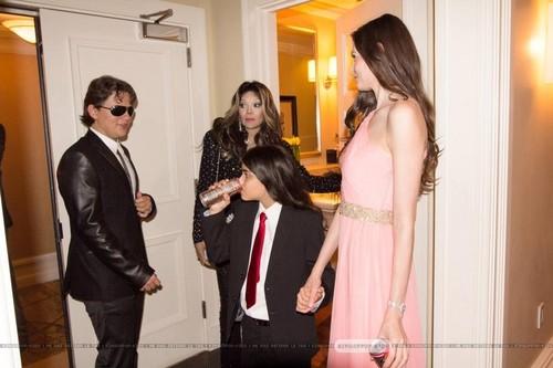 Prince Jackson, Latoya Jackson, Blanket Jackson and ? at Mr roze Drink Launch Party ♥♥