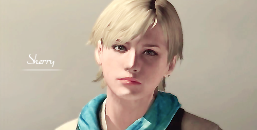 sherry Birkin wolpeyper possibly with a portrait entitled RE6 sherry