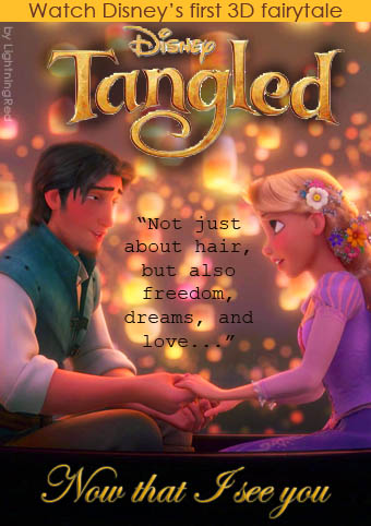 Rapunzel and Flynn on DVD Cover