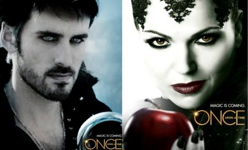 Once Upon a Time - Es war einmal... Hintergrund entitled Regina Captain Hook - Poster
