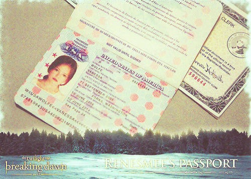 Renesmee's passport