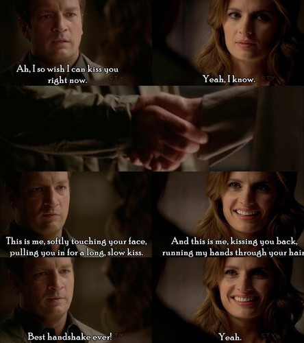 Caskett wallpaper containing a portrait called Rick & Kate