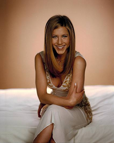 Jennifer Aniston wallpaper possibly containing bare legs, a chemise, and a cocktail dress called Robert Fleischauer Photoshoot 1998