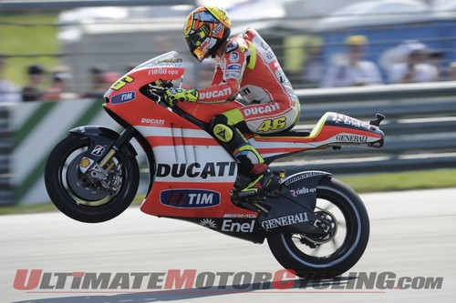 Rossi-up on one wheelie