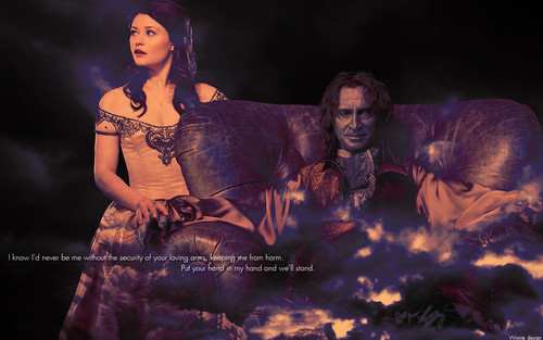 once upon a time fondo de pantalla possibly containing a concierto called Rumpelstiltskin & Belle