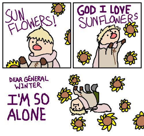 Russia and his Sunflowers