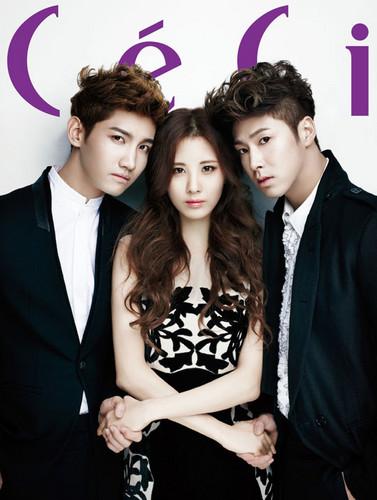 Seohyun and TVXQ for 'CeCi'