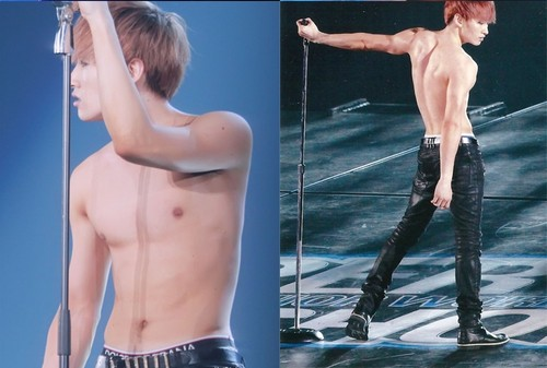Super Junior wolpeyper with a hunk, a six pack, and skin entitled Sexy Body!♥