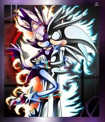 Silver the Hedgehog wallpaper containing anime entitled Silver & Blaze