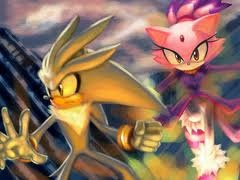 Silver the Hedgehog wallpaper with Anime called Silver & Blaze