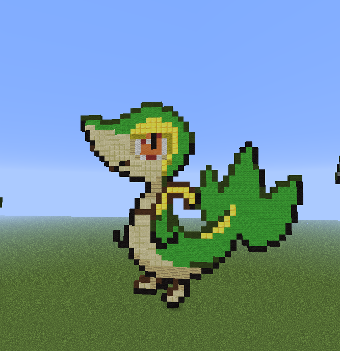 Minecraft Pixel Art! Images Snivy Evolution Family. Wallpaper And  Background Photos