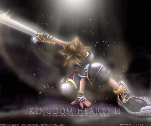 Kingdom Hearts 2 fond d'écran titled Sora