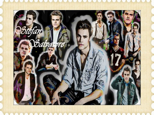 Vampire Diaries karatasi la kupamba ukuta possibly with anime called Stefan Salvatore