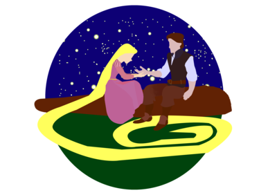 Công chúa tóc mây - Rapunzal & Flynn