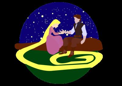 Tangled - Rapunzal & Flynn