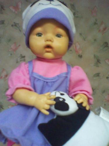 Tatiana's first doll named Cindy