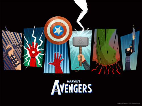 Мстители Обои with a sign called The Avengers