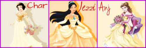 The Golden Trio - Disney Princess Style!