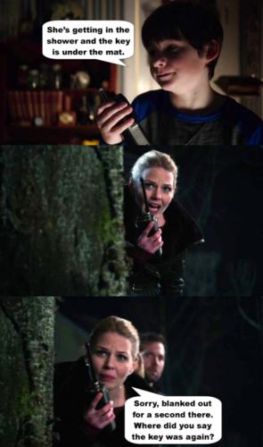 Regina et Emma fond d'écran entitled The key