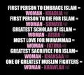 The women in Islam - islam fan art