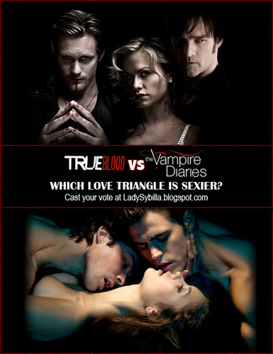 True Blood vs Vampire Diaries: Vote for the Hottest Liebe dreieck
