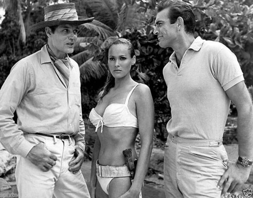 Ursula Andress and Sean Connery