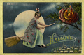 Vintage Halloween postcard - vintage fan art