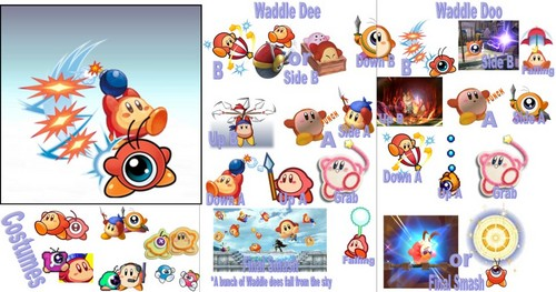Waddle Dee & Waddle Doo Possible Moveset
