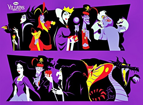 Walt Disney peminat Art - Disney Villains